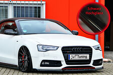 Spoilerschwert Frontspoiler mit Wing aus ABS für Audi A5 B8 S-Line Schwarz Glanz