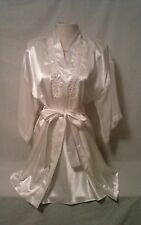 Vintage~CALIFORNIA DYNASTY~IVY~LACE~NIGHT GOWN & ROBE PEIGNOIR SET~MEDIUM~SEXY!!