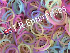 PASTEL COLOURS 300 Loom Bands/12 Clips LoomAstic Bands