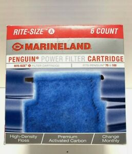 Marineland Rite-Size A Cartridge 6pk  Penguin Power Filter Cartridge NEW in BOX