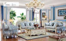 Ledersofa barock Stil Rokoko Zeit Leder Sofa Couch Polster Sitz 3 Sitzer 912 neu