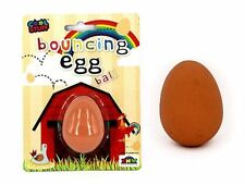 BOUNCING EGG BALL ON CARD FAKE BOUNCE RUBBER NOVELTY TRICK TOY GAG PRANK KIDS