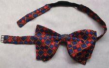 Vintage Bow Tie SILK Mens Dickie Bowtie Retro Adjustable KEN SCOTT ITALY