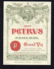 POMEROL 1ER GCC VIEILLE ETIQUETTE CHATEAU PETRUS 1977 73 CL  §26/01/18§