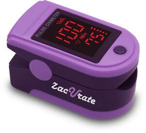 Zacurate® Purple 500DL Pro Series Pulse Oximeter Heart Rate Monitor Spo2 O2