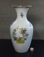 große Herend Ungary Porzellan Vase porcelain Fleurs des Indes 25 cm