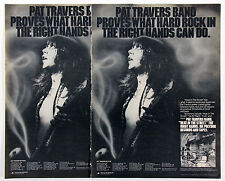 Pat Travers Vintage & Rare 1970s Promotional Ads Collection
