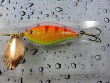 ORANGE TIGER LURE WITH SPINNER BLADE PIKE PERCH BASS ZANDER FISHING LURE 12G