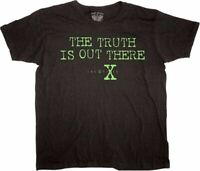 Adult Men's The X Files TV Show Series The Truth is Out There Black T-Shirt Tee