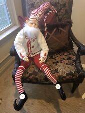 """Candy Cane ELF Large 34"""" Decorative Christmas Elf Life Like"""