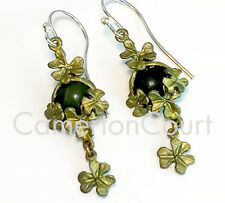 Connemara Marble Clover Dangle Earrings by Michael Michaud, EXCLUSIVELY OURS!