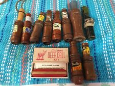 11 Old Vintage Duck And Goose And Deer Calls Wood Faulks