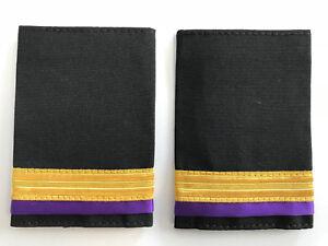 1 Bar Merchant Marine Engineer Epaulette, Gold Stripe Epaulettes