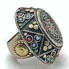 Huge Vintage Islamic Ring Ottoman Empire Style Middle Eastern Decorations Old
