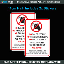 Do Not Knock Stickers X 2 No Sales People Religious Groups Cold Callers #n001