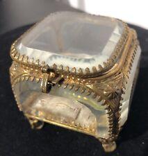 Victorian GLASS Jewel Casket/box