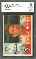 Early Wynn Card 1960 Topps #1 Chicago White Sox BGS BCCG 8