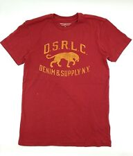 $95 RALPH LAUREN Men RED YELLOW D.S.R.L.C. TIGER CREW NECK T SHIRT TEE SIZE 2XL