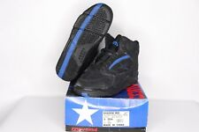 Vintage 90s New Converse Youth 3 Shadow Mid Leather Basketball Shoes Black