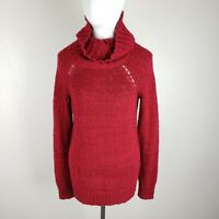 Tommy Bahama Womens Sm Knit Boat Neck Sweater Indigo Palms Red