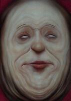 Oil Painting Romania ExBarbie Flesh Tones Strange Clown Face Gluttony Sinner