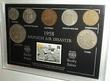 Munich accidente aéreo de Manchester Man United Duncan Edwards Vintage moneda Set De Regalo De 1958