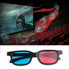 2Pcs 3D Glasses 0.2mm Black Frame Red Blue Cyan Anaglyph For Movie Game DVD