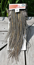 WHITING SILVER SADDLE - GRIZZLY VARIANT - DRY FLY HACKLE FREE SHIPPING