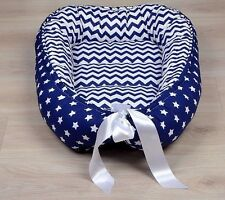 Babynest Navy Baby Nest Co Sleeper Pod Newborn Snuggle Bed Toddler Double Sided