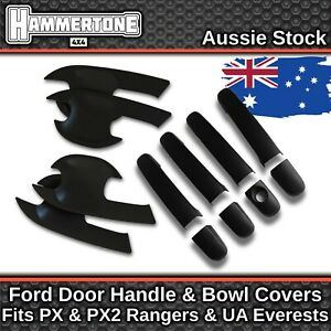 Matte Black Door Handle Protection Accessories For Ford Ranger & Everest 2011-18