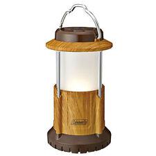 Genuine Coleman Pack-Away Natural Wood Battery Lock System LED Lantern