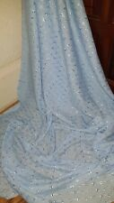 """1m skyblue  Broderie Anglaise embriouded  cotton dress fabric 45"""""""