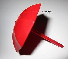Légo Fabuland x845 + tige 4095a Umbrella Parapluie Parasol Red Rouge du 3672