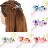 Floral Crystal Hair Clip Cute Hairpin  Headwear Accessories  Flower Barrettes