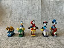 Set of 5 Hallmark 1998 Merry Miniature Figurines Mickey Express Train Set Minnie