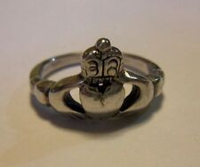 Sterling Silver Claddagh Ring Size 7.5 Stamped 925 Irish