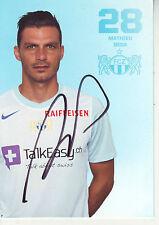 FOOTBALL carte joueur MATHIEU BEDA équipe FC ZURICH signée