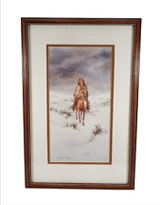 HOWARD REES LANDSCAPE PAINTING NATIVE AMERICAN HORSEBACK LISTED CALIFORNIA ART
