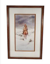 HOWARD REES LANDSCAPE PAINTING NATIVE AMERICAN HORSEBACK LISTED CALIFORNIA ART
