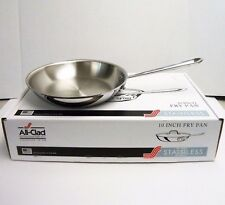 "All-Clad 10"" Inch Fry Pan Tri-Ply Stainless Steel Skillet 4110 -NEW"
