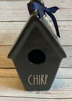 "New RAE DUNN Spring Artisan Collection LL ""CHIRP"" Black Birdhouse By Magenta"