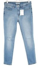 Levis 311 SHAPING SKINNY Blue RIPPED Mid Rise Stretch Jeans Size 12 W30 L30