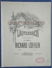 PIANO GF PARTITION RICHARD LÖFFLER LAUTERBACH IDYLLE STYRIENNE 1863 AUTRICHE