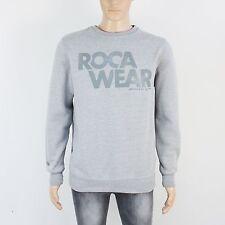Roca Wear Da Uomo Taglia L grigio pullover felpa