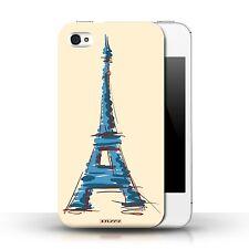 Stuff4 Hülle/Case für Apple iPhone 4/4S/Eiffel Turm / Paris/Wahrzeichen
