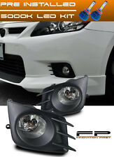 LED + 2011-2013 Scion TC Fog Lights Clear Lens Front Bumper Lamps Complete Kit