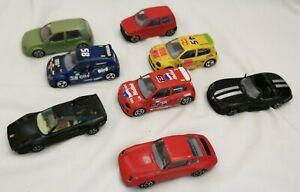 Burago Cars Bundle 1/43 scale 8 cars including Ferrari Viper Renault Clio etc