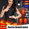 S-2XL USB Unisexe Vest Chauffage Chauffant Électrique Chaud Gilet Manteau