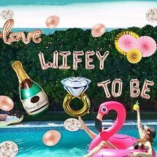 Rose Gold Bachelorette Party Decorations Kit - Bride to Be Decorations, 40 inch