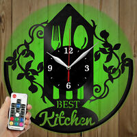 Details about  /LED Vinyl Clock Bear LED Wall Decor Art Clock Original Gift 1428